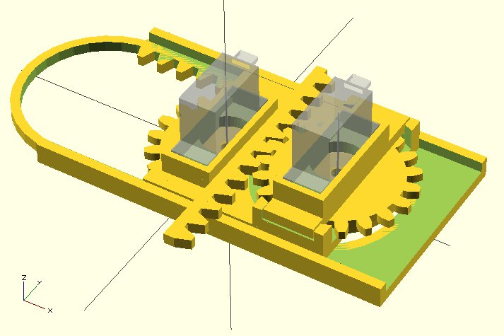 OpenSCAD Rendering of Mini CNC