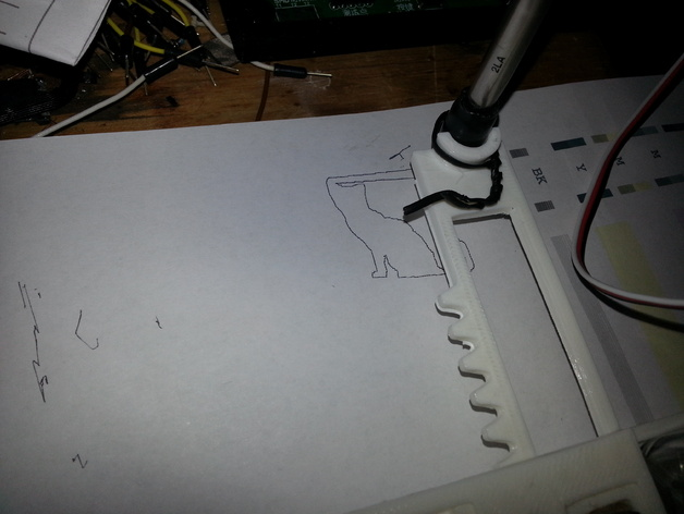 Tiny CNC drawn cat