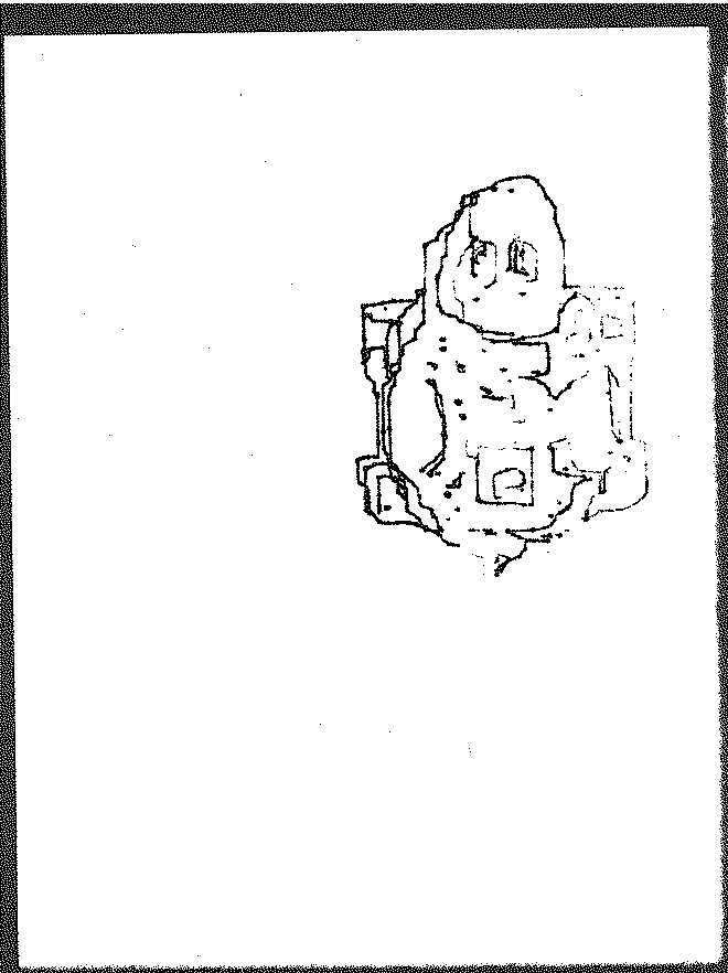 A robot drawn robot turtle