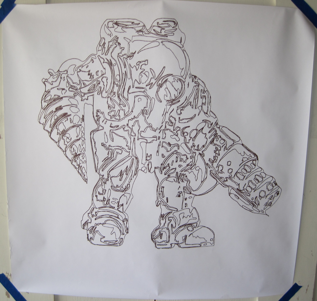 Plotterbot page 2 learn how to build a drawing robot bioshock big daddy malvernweather Gallery